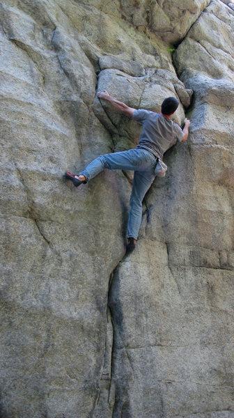Lance climbing Beef Jerky.