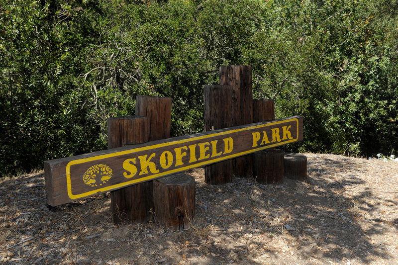 The entrance to Skofield is well marked, located just beyond the Rattlesnake Canyon Trailhead.