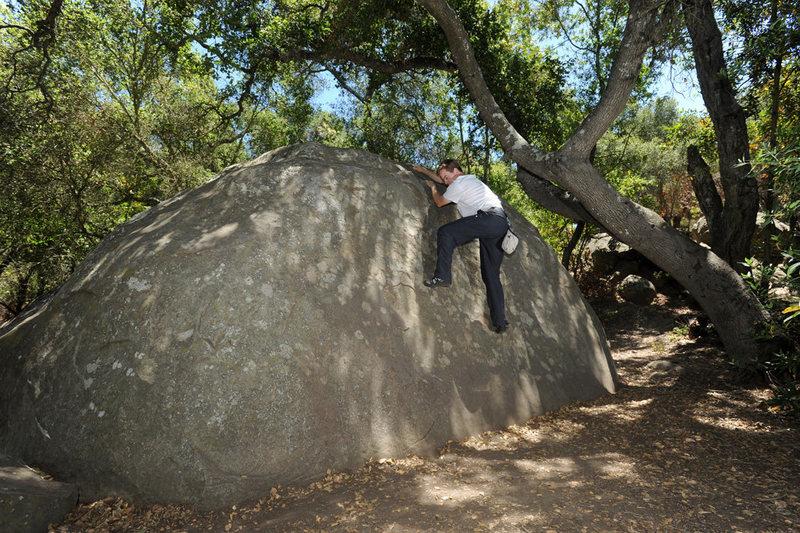 Rock Climbing Photo: The unmistakable Slab Boulder, Skofield Park