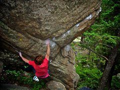 "Rock Climbing Photo: Luke Childers on the F.A. of ""Nothing But Eve..."
