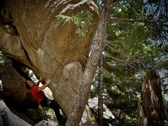 """Rock Climbing Photo: Luke Childers on the F.A. of the new """"Elicit ..."""