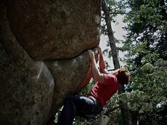 "Rock Climbing Photo: Luke Childers on the F.A. of the new ""Elicit ..."