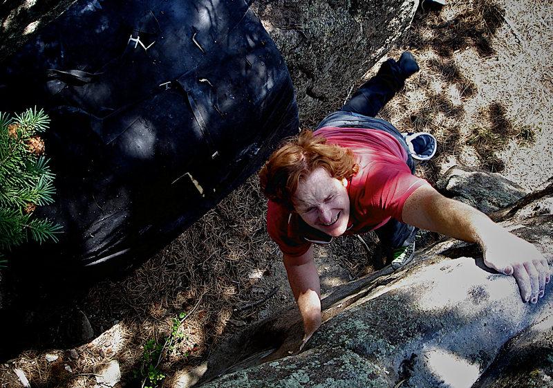 "Rock Climbing Photo: Luke Childers catching the F.A. of ""Mute&quot..."