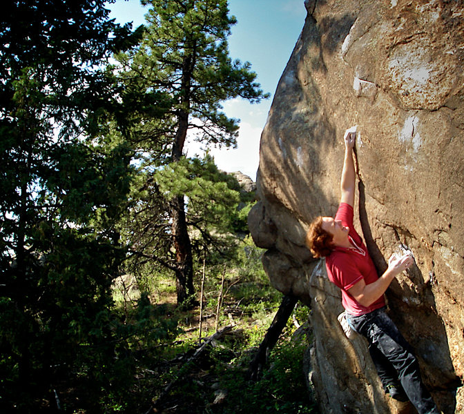 "Rock Climbing Photo: Luke Childers pulling the tiny crimps of ""The..."