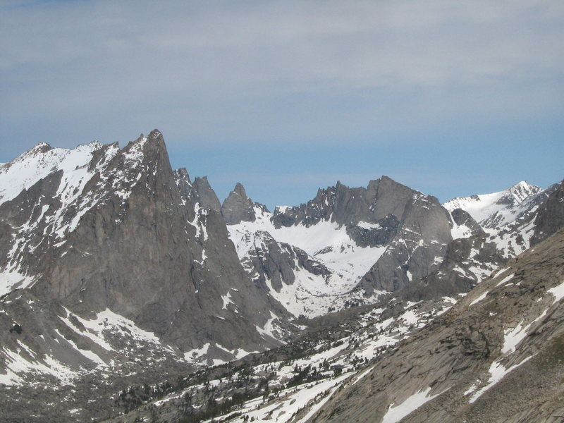 Cirque of the Towers from the North Face of Haystack Mtn., 25-June-09
