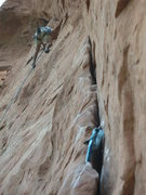 Rock Climbing Photo: Cam jammed in the 5.9 flake when my partner mistoo...