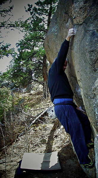Rock Climbing Photo: Scott Sillis on the F.A. of the area classic &quot...