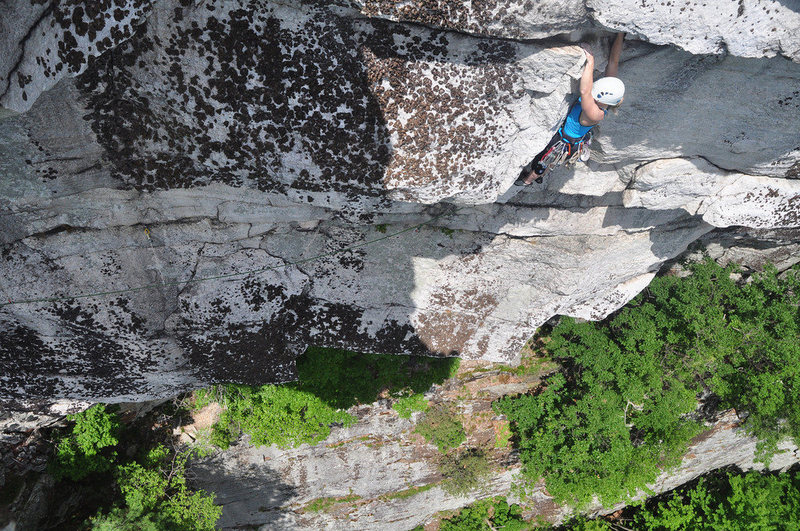 Rock Climbing Photo: One move above where I described the hanging belay...