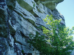 Rock Climbing Photo: Nic Fries setting up the hanging belay at the end ...