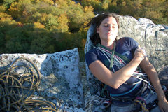 Rock Climbing Photo: A nice spot for a nap on an October afternoon in t...