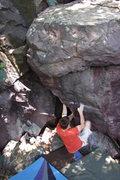 Rock Climbing Photo: Dobbe at the start.