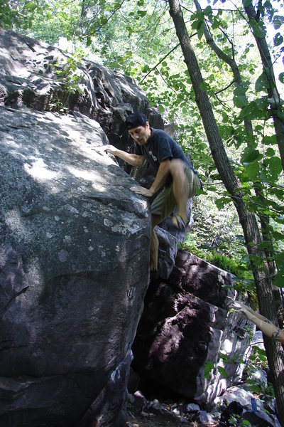 Rock Climbing Photo: Top-out