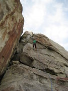 Rock Climbing Photo: First rappel coming off the top. On the way up We ...