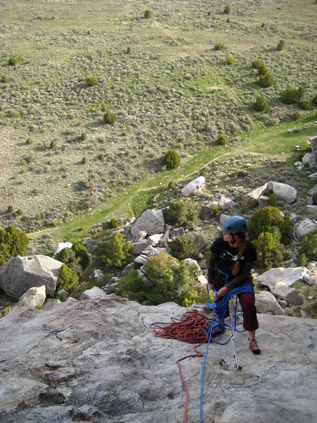 Rock Climbing Photo: last belay station before to top