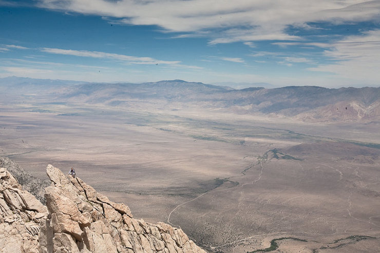 Caroline Schaumann on the North Ridge, Lone Pine Peak