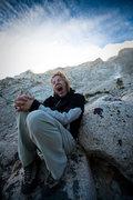Rock Climbing Photo: Caroline Schaumann after the short approach to Lon...