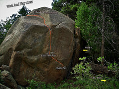 "Rock Climbing Photo: Photo beta for the ""Child's Play Boulder.&quo..."