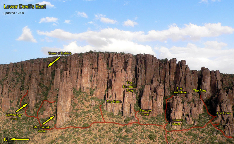 Rock Climbing Photo: Overview of LDE