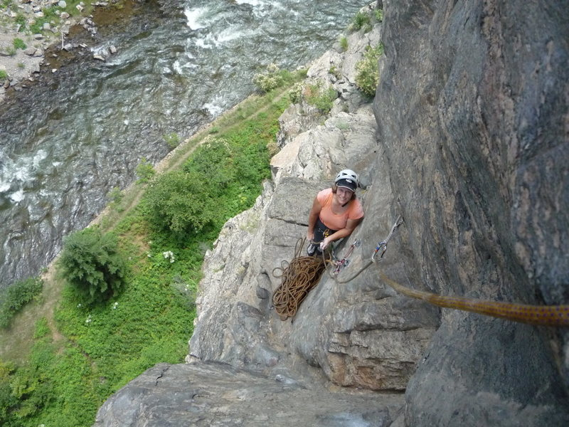 CM at the second belay.