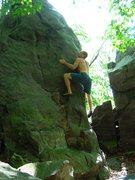 Rock Climbing Photo: Red Hair Arete.  Pretty tall but decent landing.
