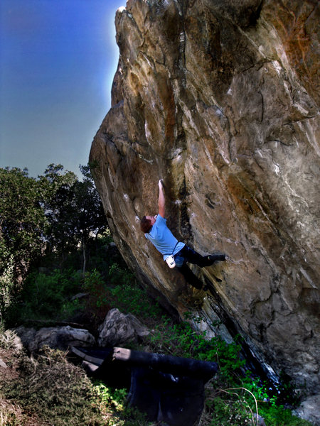 Rock Climbing Photo: Luke Childers finding the simplest solution on his...