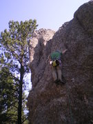 Rock Climbing Photo: Passing the second bolt.
