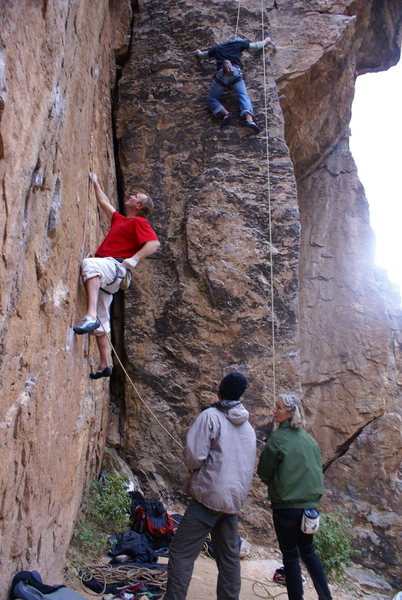 Rock Climbing Photo: John Bachar on Stealin. I think this was around Se...