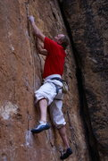 Rock Climbing Photo: John Bachar on Stealin.  Martial Arts pants rolled...