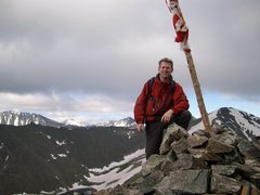 Rock Climbing Photo: top of peak 10 fourth of july bowl getting snowboa...