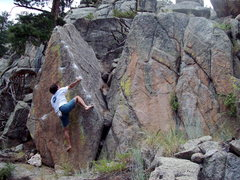Rock Climbing Photo: Up Spire, Boulder Canyon.