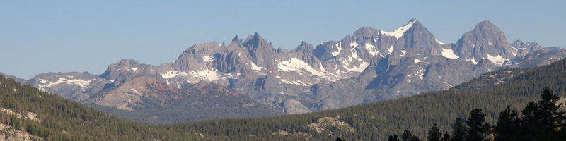 Rock Climbing Photo: The Minarets, Mt Ritter and Banner from the slopes...
