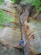 Rock Climbing Photo: Text book dihedral, Arachniphobia, 5.9.