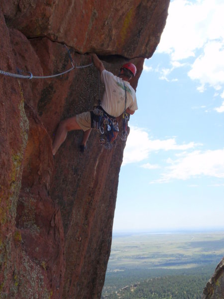 Before the crux.  Photo by Clint Dillard.