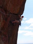 Rock Climbing Photo: In the crux.  Photo by Clint Dillard.