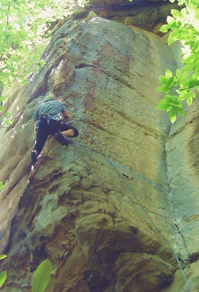 Rock Climbing Photo: Cruising arete.