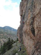 Rock Climbing Photo: At the end of the difficulties on the Smoking Pick...