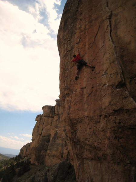 The best route at Shelf?  Resting up for the sting in the tail on the Gym Arete Direct.