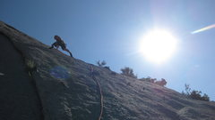 Rock Climbing Photo: Jon Behrmann on lead...