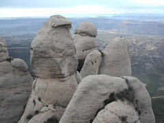 """From the summit of the Frare (the highest summit of the region of """"Frares"""" we have this view of the """"Lloro"""""""