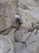 Rock Climbing Photo: Lie back crux