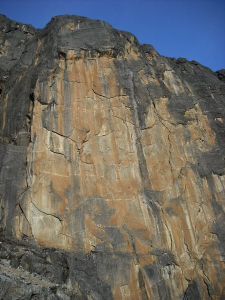 Rock Climbing Photo: Almost All American climbs the obvious crack on th...