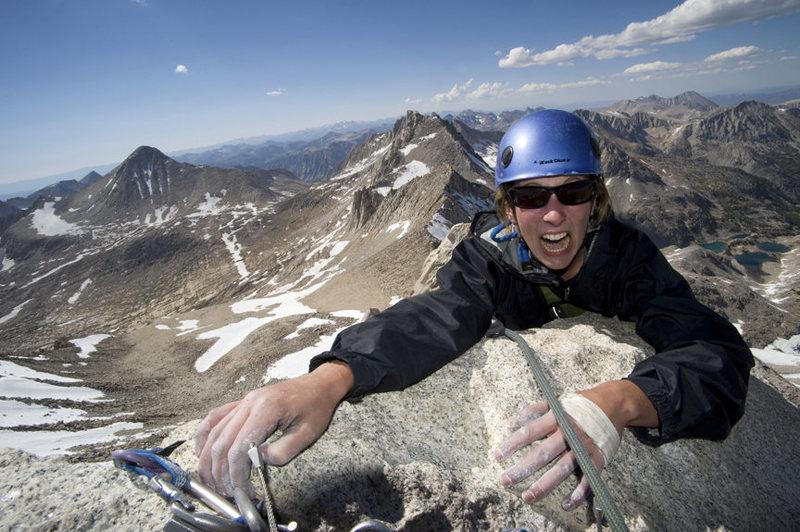 Claire Rasmussen on the summit.
