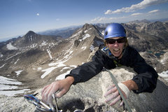 Rock Climbing Photo: Claire Rasmussen on the summit.