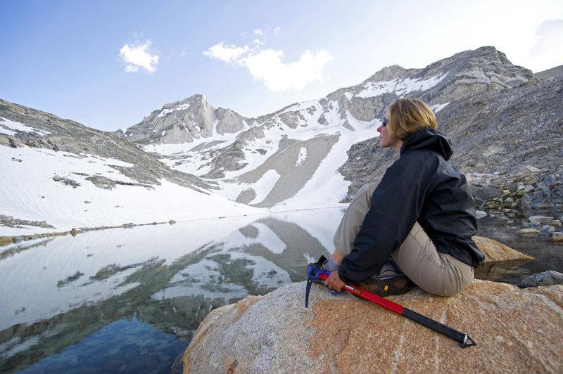 Rock Climbing Photo: Claire Rasmussen below Bear Creek Spire