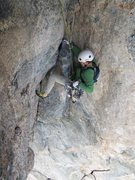 Rock Climbing Photo: Bert is following the wild P4 roof traverse....