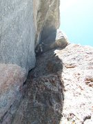 Rock Climbing Photo: P3 of Good Evans starts out with a #4 camolot size...