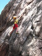 Rock Climbing Photo: Cody taking full advantage of his small fingers at...