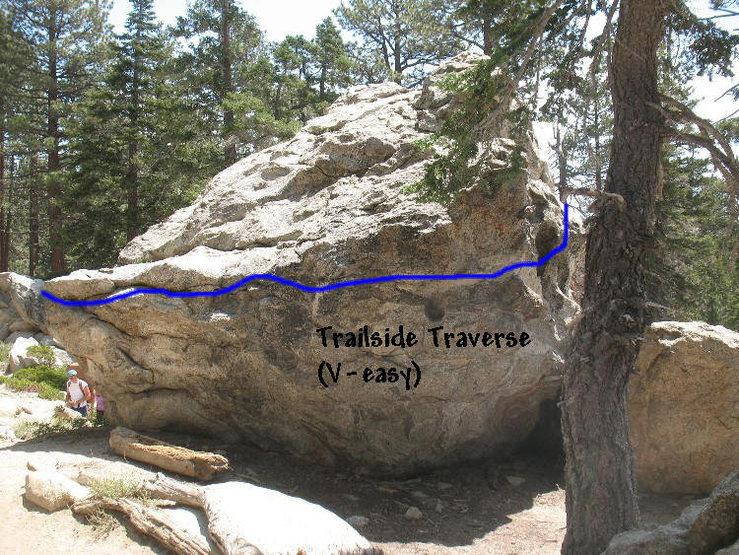 Rock Climbing Photo: Trailside Traverse (V-easy), Tramway