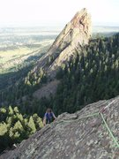 Rock Climbing Photo: You run and you run to catch up with the sun, but ...