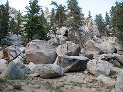 Rock Climbing Photo: Gravity Wave Boulder, Tramway